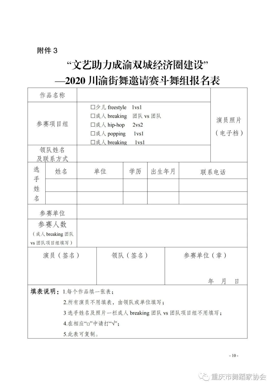 """关于举办""""文艺助力成渝双城经济圈建设"""" —2020川渝街舞邀请赛的通知"""